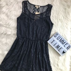 🦋NWT | Navy blue lace summer dress | Size M